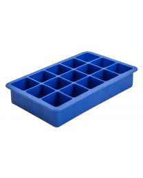 Siliconen mal voor 15 ijsblokjes, blauw