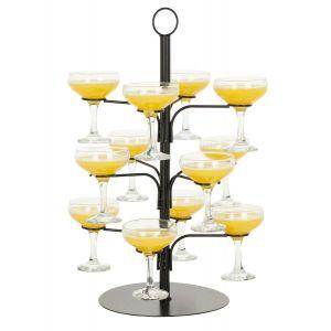 Cocktail boom/ champagne glazen standaard voor 12 glazen