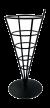 French Fry Cone / Frites zak houder zwart metaal
